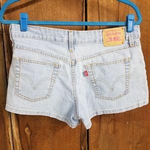 Levi's Light Wash Jean Shorts 518